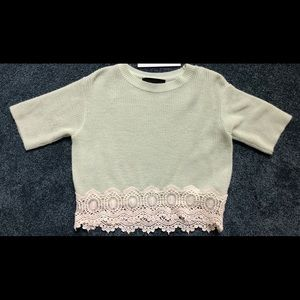 Top Shop Knit Crop Top